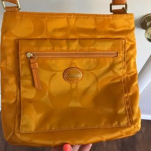 Yellow Coach Crossbody Bag